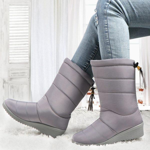 Winter Women Boots Ankle Boots Down Snow Boots Waterproof Tassel Winter Shoes Women Warm Fur Black Boots Female Botas Mujer
