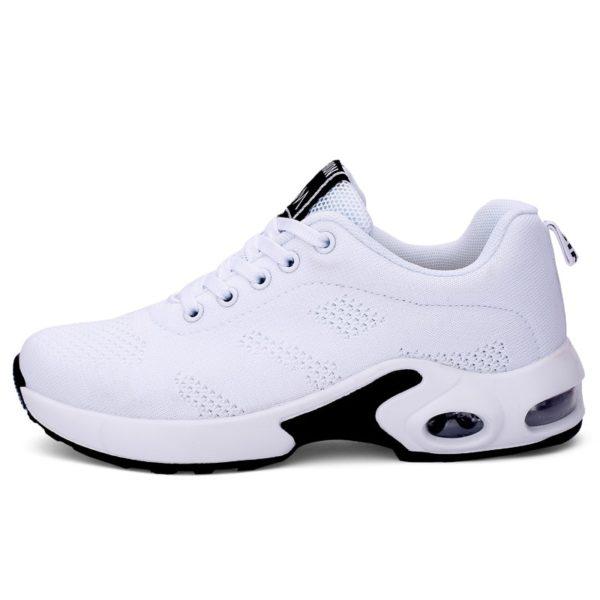 Women Lightweight Sneakers Air Cushion Ladies Trainers Basket Tenis Casual White Platform Flat Sneakers Breathable Mesh Comfort