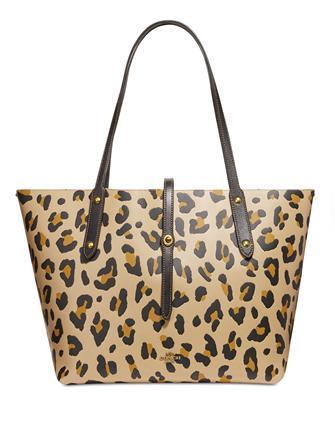 Coach Leopard leather Market Tote Shoulder Bag