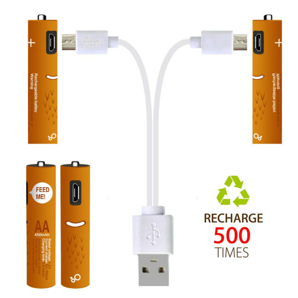 4pc AAA 1.2V SMARTOOOLS Rechargeable Ni-MH Battery Micro USB (NiMH)