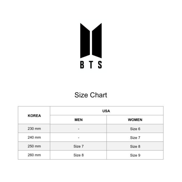 BTS Shoes Size Chart