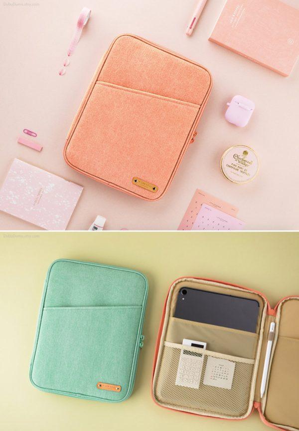 "11"" iPad Case / Canvas iPad Pro Case 10.5 / Cute Tablet Case / Tablet Sleeve / iPad Cover / School Supplies Office Supplies"