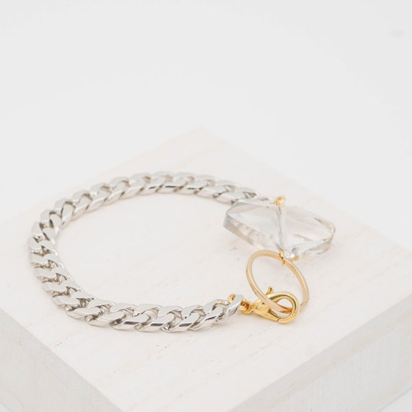 Black Crystal Circle Bracelet