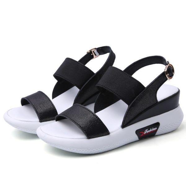 New Fashion Split Leather Women Sandals Flat Platform Women Summer Shoes Sneakers Open Toe Breathable Ladies Beach Sandals