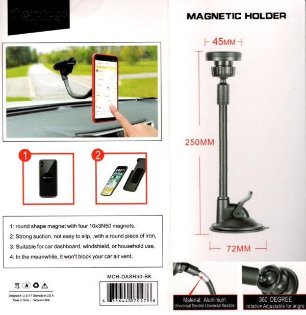 Car Phone Holder Magnetic Type MCH-DASH30-BK