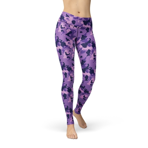 Jean Purple Camouflage Leggings