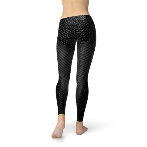 Womens Carbon Fiber Sports Leggings