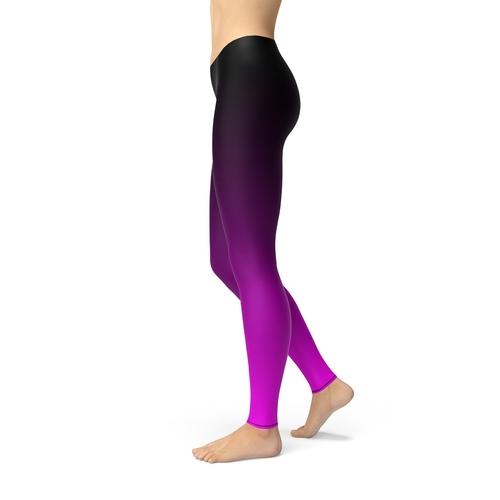 Avery Black Pink Ombre Leggings