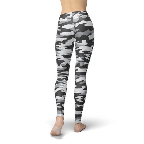Jean Dark Grey Camouflage Leggings