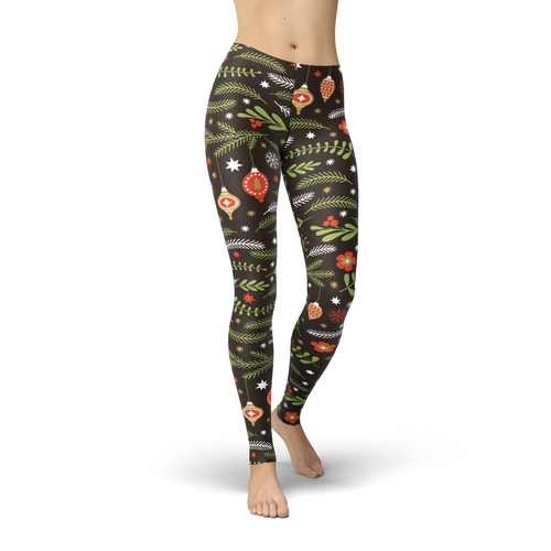 Jean Holiday Branches Leggings