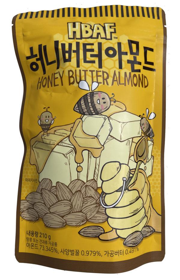 HBAF Honey Butter Almond 허니버터 아몬드 (Pack of 3)