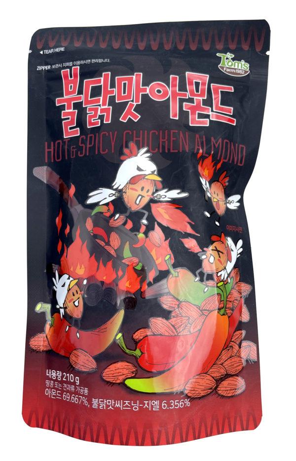 HBAF Hot & Spicy Chicken Almond 불닭 아몬드 (Pack of 3)