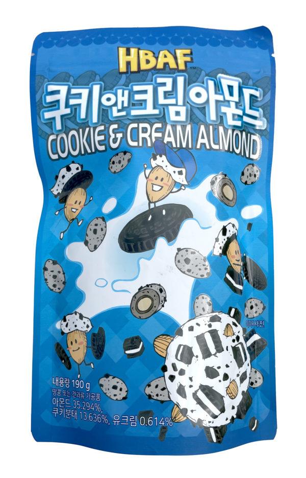 HBAF Cookie & Cream Almond 쿠키앤크림 아몬드 (Pack of 3)