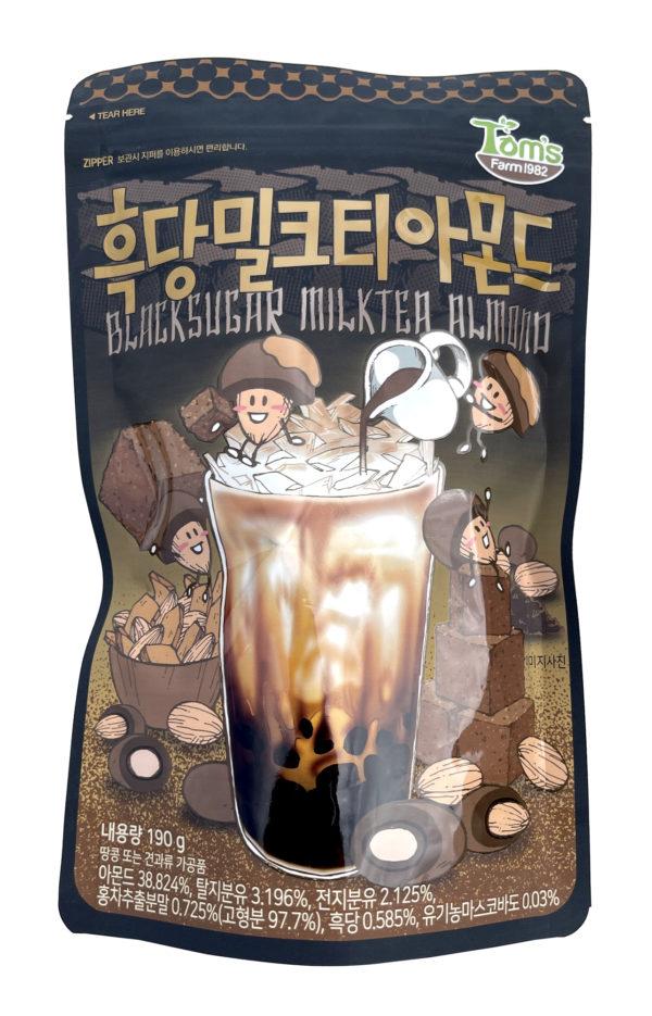 HBAF Blacksugar Milktea Almond 흑당밀크티 아몬드 (Pack of 3)