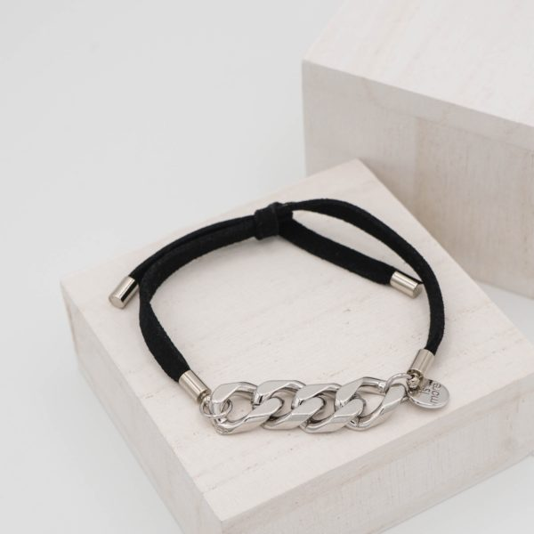 Black Chamude Tie Bracelet