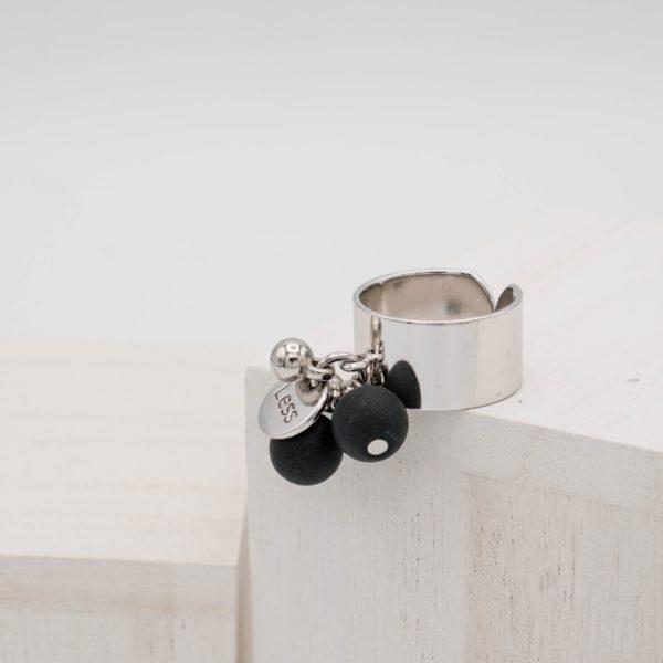 Black Onyx Ball Ring